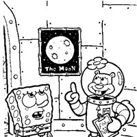 sponge bob square pants sandy cheeks coloring page