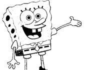 sponge bob square pants coloring page