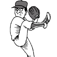 baseball pitcher coloring page