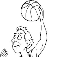 basketball lay up coloring page
