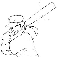batting stance coloring page