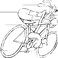 bicycling coloring page