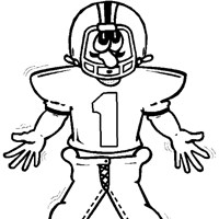 football coloring coloring page