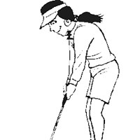 lady golfing coloring page