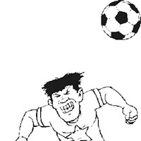 soccer header coloring page