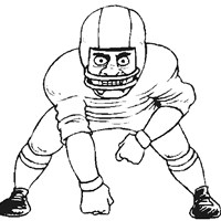 sports football coloring page
