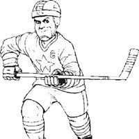 sports hockey coloring page