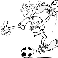 sports soccer coloring page
