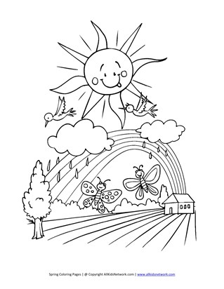 spring coloring pages print spring pictures to color all kids