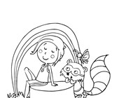 spring outside coloring page