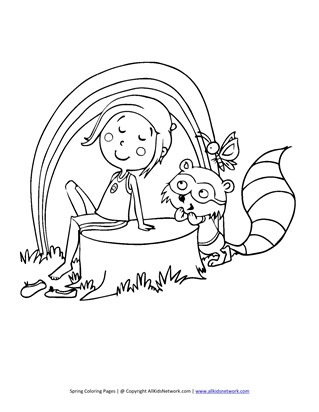 spring coloring pages print spring pictures to color all kids network