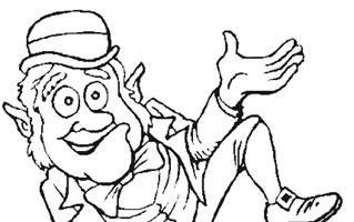 st patricks day lepricon coloring page