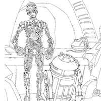 c3po and r2d2 coloring page