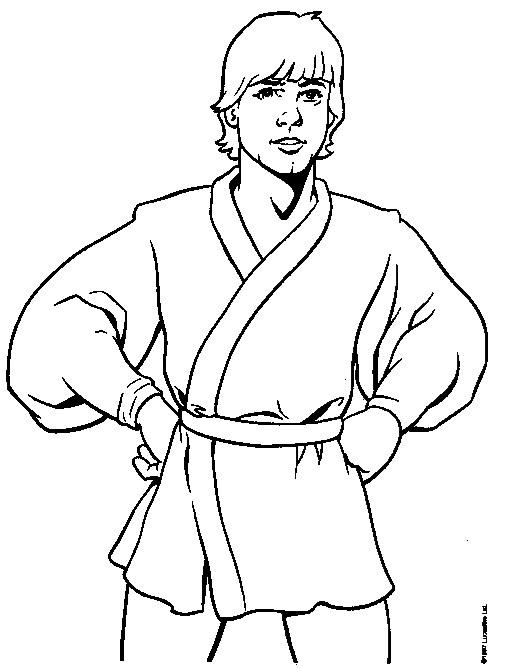 Star Wars Coloring Page Luke Skywalker All Kids Network