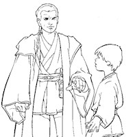 obi one star wars coloring page