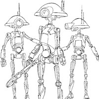 star wars androids coloring page