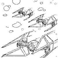 star wars fighters coloring page