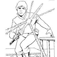 star wars luke coloring page