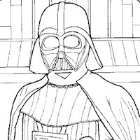 starwars darth vader coloring page