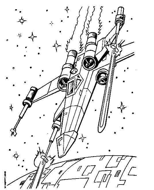 x-wing coloring pages Star Wars Coloring Page   x wing fighter coloring page | All Kids  x-wing coloring pages