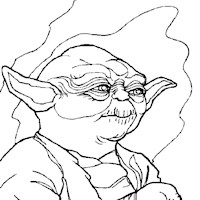 yoda coloring page coloring page