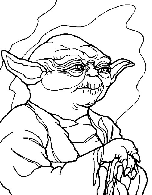 star wars coloring page yoda coloring page all kids network - Yoda Coloring Pages