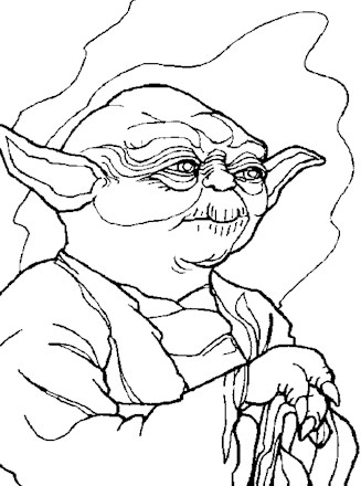 Star Wars Coloring Page Yoda Coloring Page All Kids Network