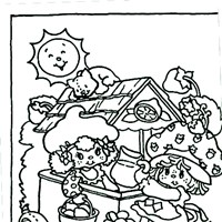 strawberry shortcake coloring page coloring page