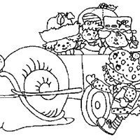 strawberry shortcake wagon coloring page