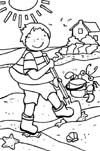 beach summer w100 coloring page