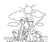 Summer Coloring Pages Print Summer Pictures To Color All Kids Network