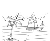 Boats Coloring Page