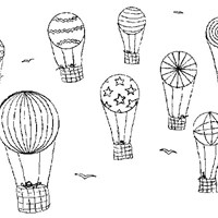 hot air balloons coloring page