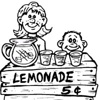 lemonaide stand coloring page