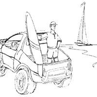 lifeguard jeep coloring page