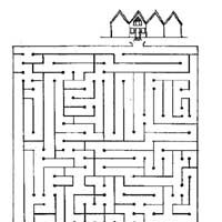 maze home from park w200 coloring page