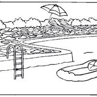 pool coloring page