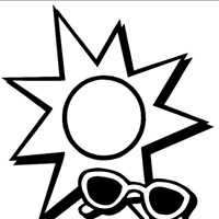 sun sunglasses coloring page