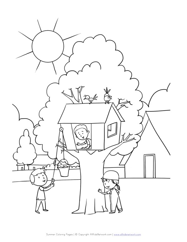 Tree House Coloring Pages Print | Printable adult coloring, House ... | 776x600