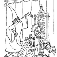 arthur and merlin coloring page