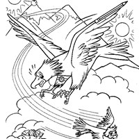 arthur as bird coloring page