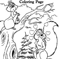 arthur as squirrel coloring page