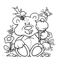 teddy bear ice cream coloring page