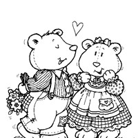 teddy bear love coloring page