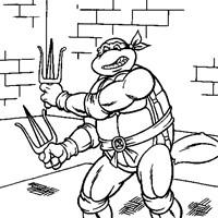 Teenage Mutant Ninja Turtles Coloring Pages All Kids Network