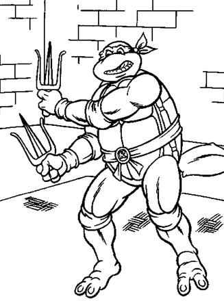 Rise of Teenage Mutant Ninja Turtles coloring pages | Print and ... | 440x327
