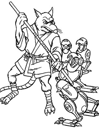 teenage mutant ninja turtles splinter coloring page