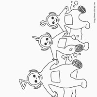 dancing teletubbies coloring page