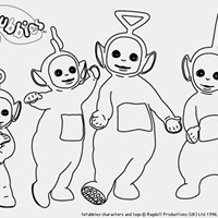 dipsy laa laa tinky winky po coloring page