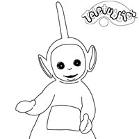 dipsy teletubbie coloring page